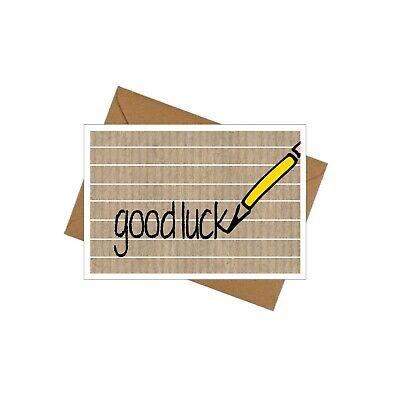 10 Leaving cards for your class. Good luck. Plain/personalised - Yellow Pencil