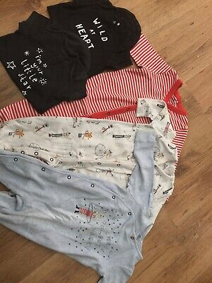Next Bundle Boys Sleepsuits Babygrows And Vests 9-12 Months
