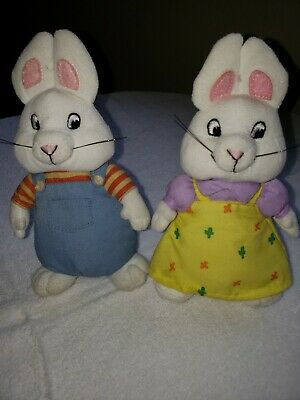 MAX and RUBY Plush Nick Jr Animal Bunnies Rabbit TY Beanie Babies 7