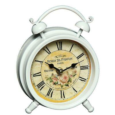 Table Clock, Kamin-Uhr with Rose Motif Victor Vaissier, Country House Clock