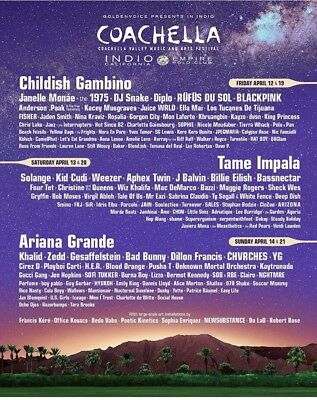 SOLD OUT Coachella 2019 - 1 GA Wristbands for Weekend 1 With Shuttle Pass