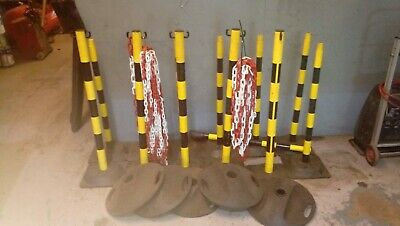Safety Posts And Plastic Chain For Events Or Driveways .