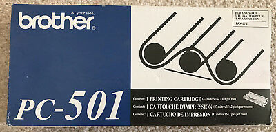 Brother PC-501 Print Cartrige Fax Machine Fax-575 New NIB Genuine Authentic