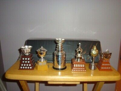 Lot Of 5 Nhl Hockey Award Trophies Stanley Cups Mcdonalds 2003.