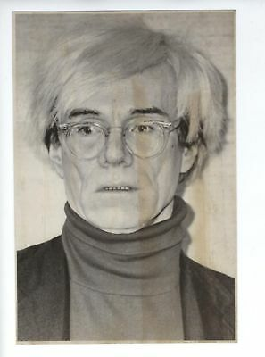 ROBERT MAPPLETHORPE OF ANDY WARHOL Düsseldorf  photograph 1983 6 1/8x/ 9 1/8 in