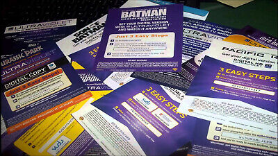 Movie Digital Codes From My Personal Collection