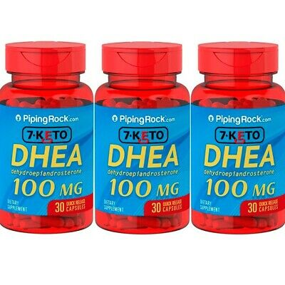 DHEA 7-KETO 100mg 3x30cps. ANTI EDAD. Piping Rock. ENVIO GRATIS Y URGENTE
