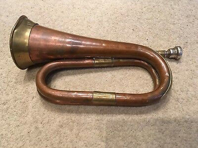 Vintage Copper And Brass Military Bugle