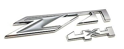 Z71 4x4 Side Left Right Emblem Chrome Replaces OEM Badge 23172678 fits GMC Chevy