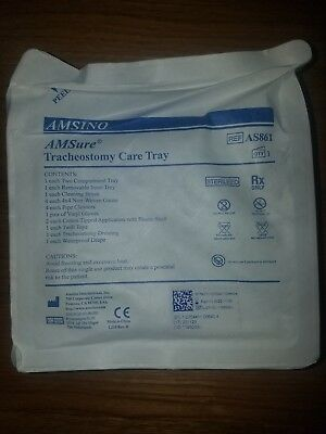 Amsino Amsure Tracheostomy care kit with removable tray Brand New 20 Pack