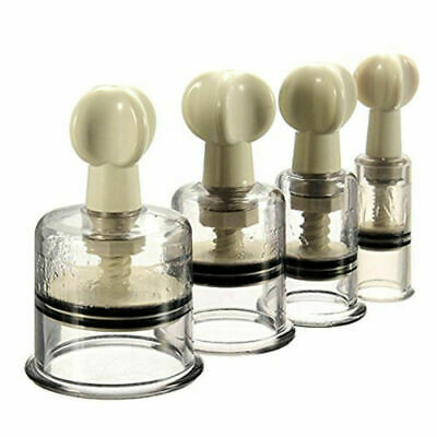 4 Sizes Vacuum Rotary Easy Twist Cupping Nipple NO-Pump Suction Enlarger New