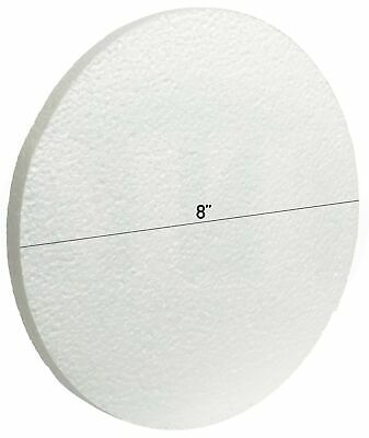 White EPS Foam Craft Discs by MT Products (8 Inch x 1/2 Inch) (12 Pieces)