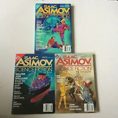 Isaac Asimovs - Science Fiction - Magazine - vintage science fiction paperbacks