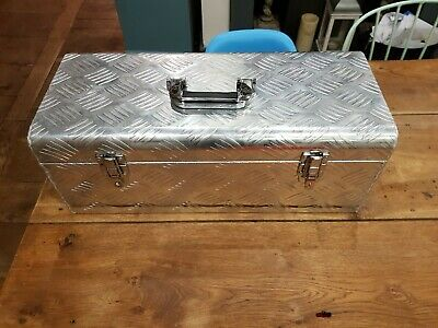 Checker plate tool box (Has 2 small scratches)