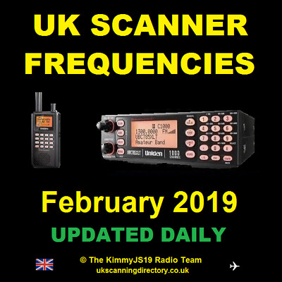 UK SCANNING DIRECTORY February 2019 - Scanner Frequencies CD (Fully Updated)