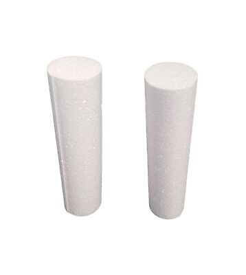 White EPS Foam Rod Craft 2 inch Diameter x 10 Inches Length (8 Pieces)