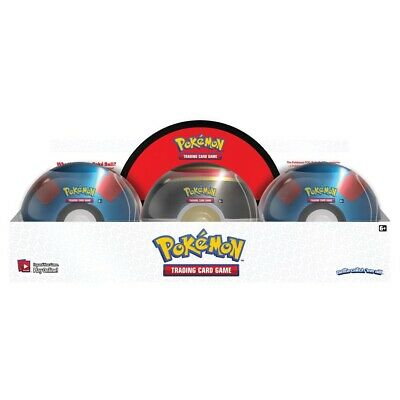 Pokemon TCG 2019 Poke Ball Tin w/3 booster packs + 1 Coin (x6)! Limited Release