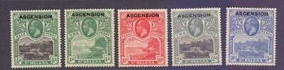 ASCENSION 1922 KGV SG1-5 Government House Values to 3d Fine MINT Cat £63
