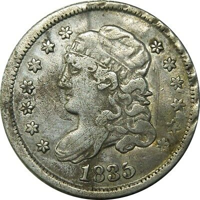 1835 H10c Capped Bust Half Dime details coin rare old type coin CS118