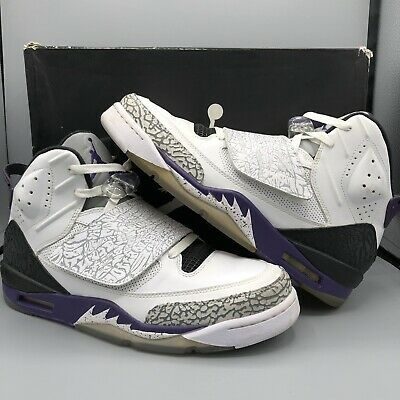 timeless design 3b03d 1fc16 Nike Air Jordan Son Of Mars Spizike White Purple Cement Grey Black 512245- 106 10