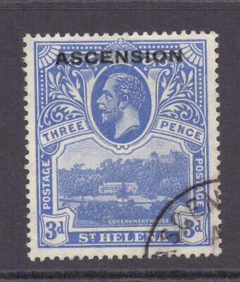 ASCENSION 1922 KGV SG5 3d Government House Value  Fine Used Cat £30