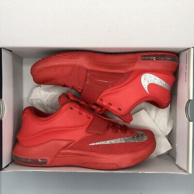 7b6b9815e451 2014 Nike KEVIN DURANT KD VII 7 GLOBAL GAME ACTION RED SILVER 653996-660 SZ