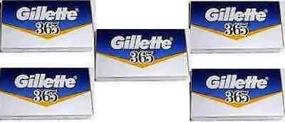 50 Gillette 365 Razor Shaving Blades Double Edge Safety Shave ReplacementBlade