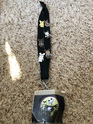 Disney Vinylmation Trading Pin Lot of 6 Mickey Mouse Star Wars used lanyard