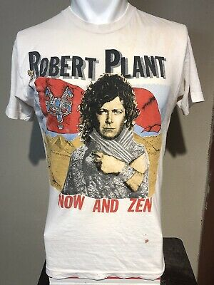VTG 1988 Robert Plant Now And Zen Tour Soft-thin Promo Tee-M