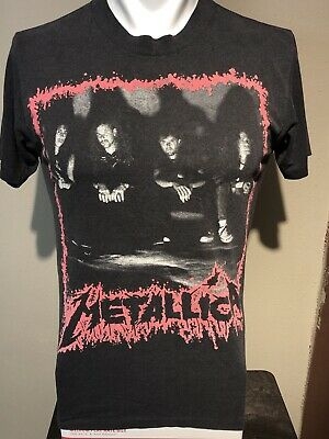 VTG 1990 Metallica Europe And North America Soft-thin Concert Tee-M