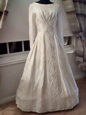 VINTAGE WEDDING DRESS..TRUE VINTAGE  BY EMENSON...1950,s..SMALL