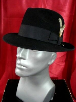 a0a292c793d Capas Untouchable Wool Felt Fedora Hat Black Size XL Bailey of Hollywood  NWOT