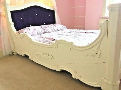 Antique Bed Frame Small Double- Unique French Louis XVI - Girls Child Princess