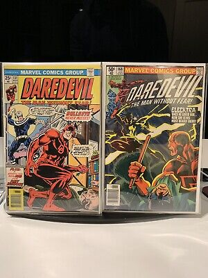 Daredevil 131 and 168 First Bullseye And Elektra Appearance Not CGC