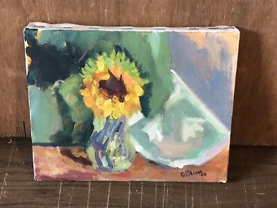 Listed Artist Gerald Bloom Abstract Flowers  Circa 1968