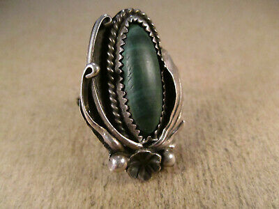 Vintage Sterling Silver & Malachite Ring, ROBT Robert Kelley, Size 5.5, 8.5g