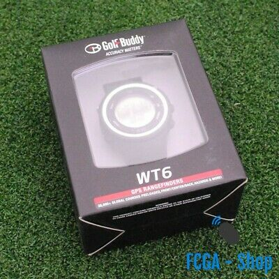 NEW 2017 Golf Buddy WT6 Golf GPS Watch Black Range Finder Pre-Loaded 38k Courses