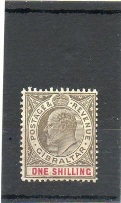 Sg 61 Gibraltar One Shilling Mint Cat £65... Two Scans