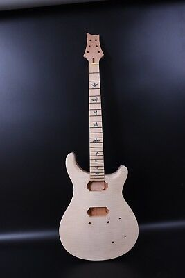 Unfinished Set Mahogany Guitar Body+Neck Fit Diy Electric Guitar Project/Parts