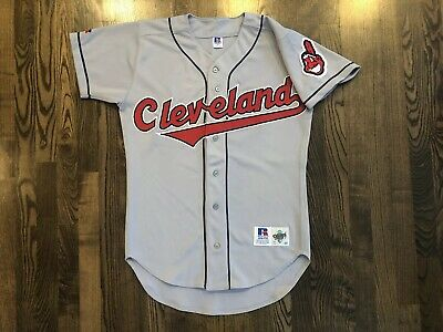 Vintage Russell Authentic CLEVELAND INDIANS Gray Jersey Size 40 Medium M b30defaf7
