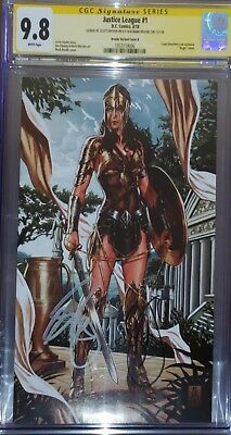 Justice League 1 CGC SS 9.8 Brooks Variant B sign by Mark Brooks & Scott Snyder