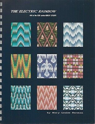 THE ELECTRIC RAINBOW by Mary Louis Norman - 4 Color Bargello Jacquard Patterns