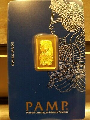 5 GRAM PAMP SUISSE GOLD BAR .999 pure bullion with assay