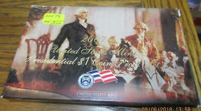 2007S US Mint Presidential Dollars Proof Set. Ultra Cameos.                #MF-3