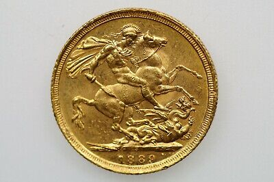 1889 Sydney Mint Gold Full Sovereign in Almost EF Condition
