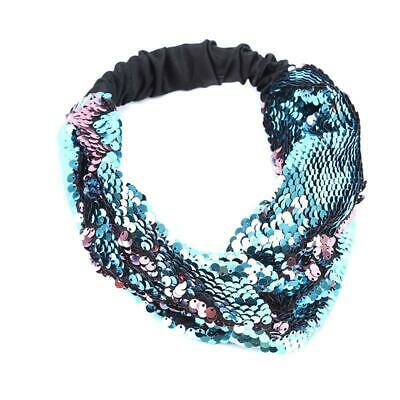 Women Wide Reversible Sequin Headband Head Band Hairband Hair Hoop Accessory 6L