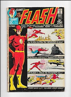 THE FLASH #205 (DC Comics 1971) Unpublished GA FLASH story! LOW Grade DEAL!!