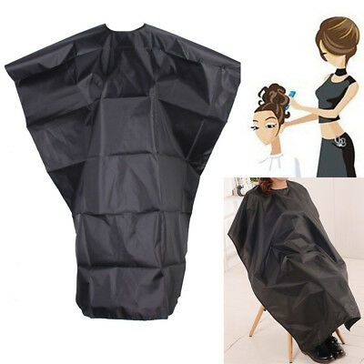 Hair Cutting Cloth Waterproof Salon Hairdressing Cape Gown Black salon
