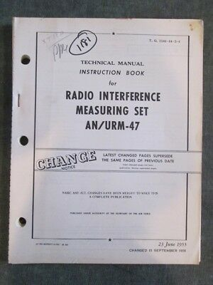 1955 US Air Force Technical Manual AN/URM-47 Radio Interference Measuring Set