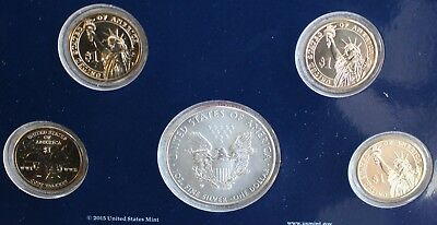 2016 ANNUAL US Mint Uncirculated Dollar Coins 5 Coin Set PDW Complete Set K2